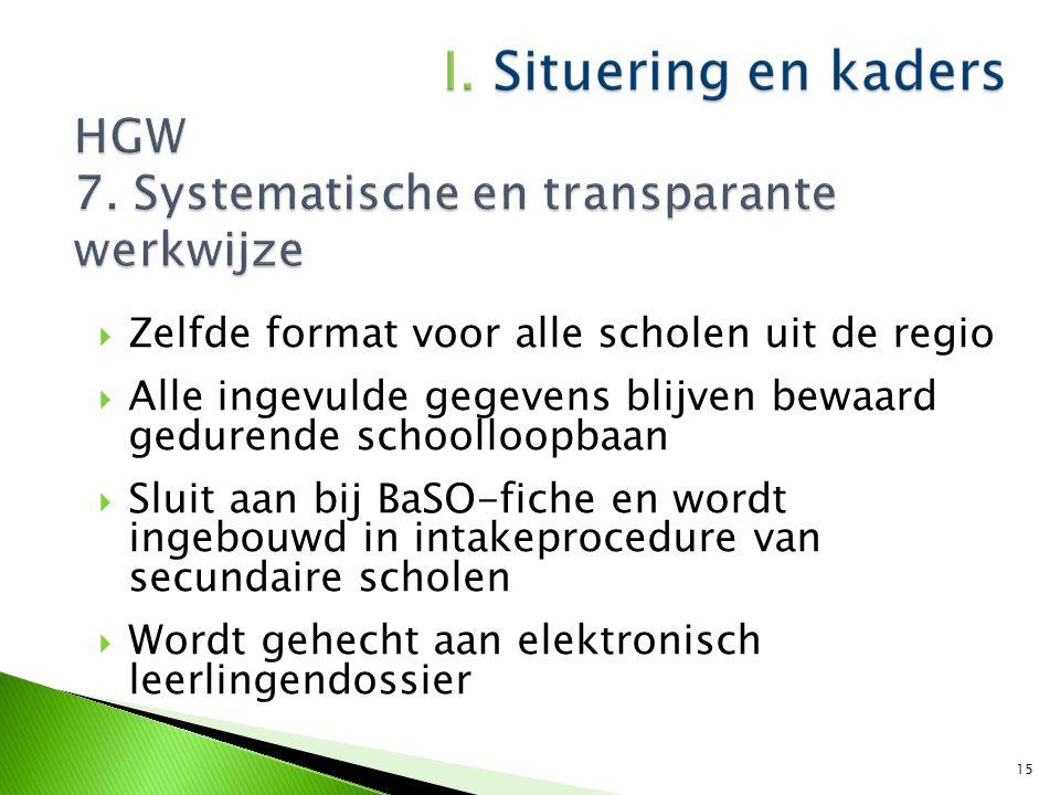 HGW 7. Systematische en transparante werkwijze