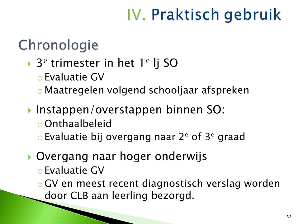 Chronologie 3e trimester in het 1e lj SO
