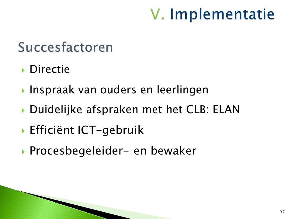 Succesfactoren Efficiënt ICT-gebruik Procesbegeleider- en bewaker