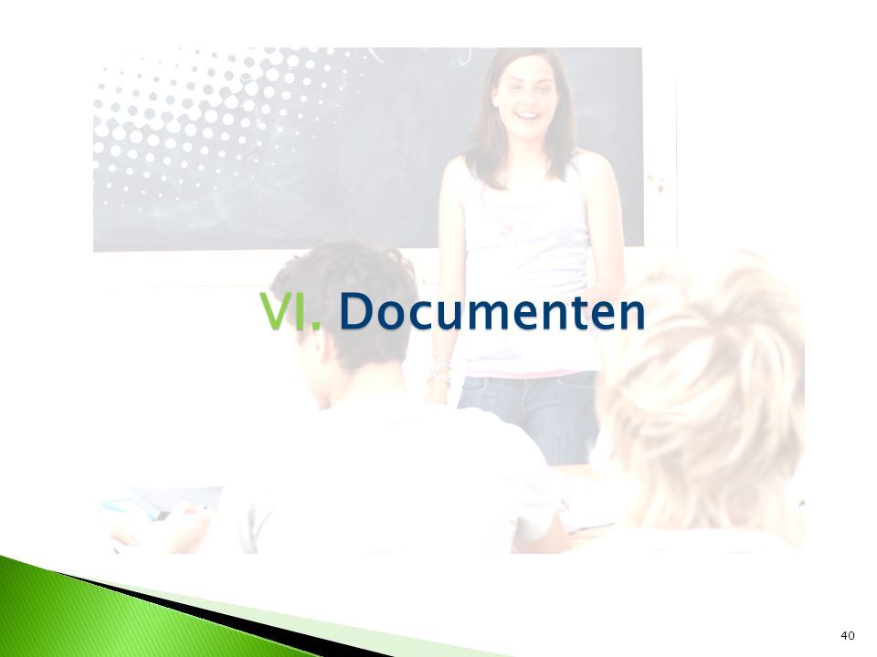 VI. Documenten