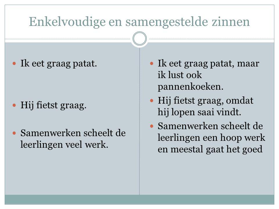Enkelvoudige en samengestelde zinnen