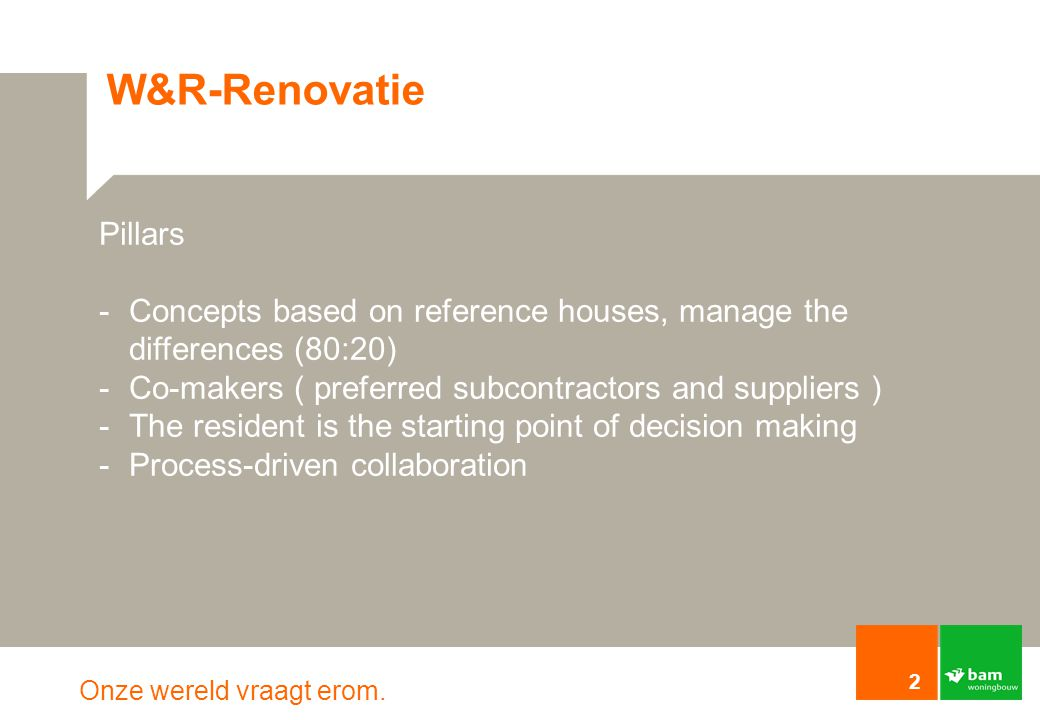 W&R-Renovatie Pillars