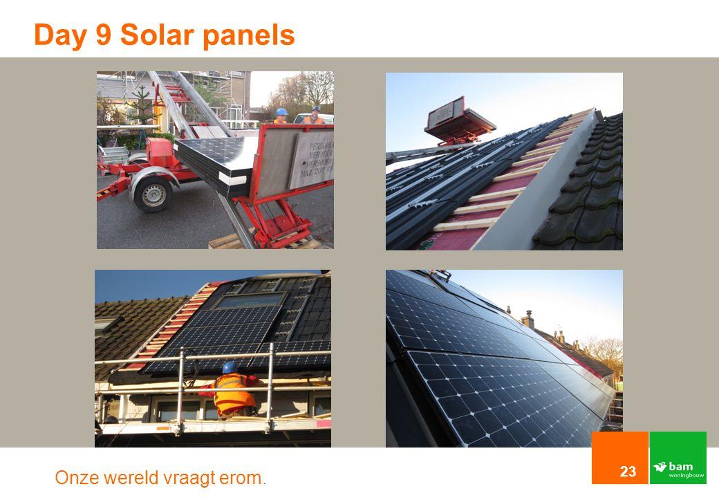 Day 9 Solar panels