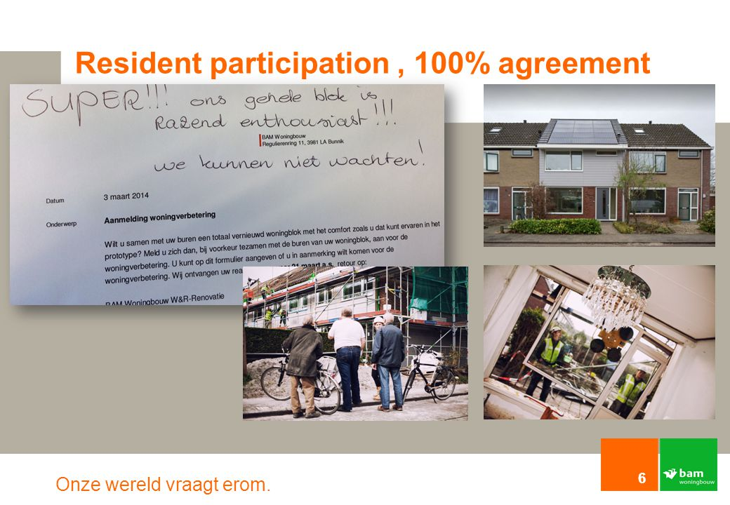Resident participation , 100% agreement
