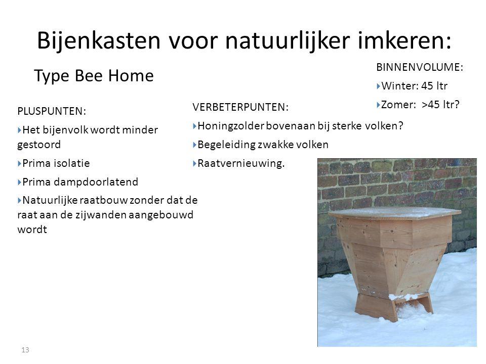 Bijenkasten voor natuurlijker imkeren: