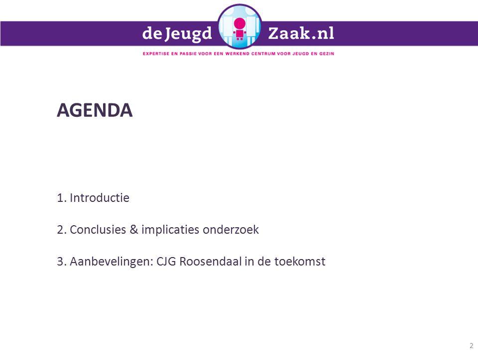 AGENDA 1. Introductie 2. Conclusies & implicaties onderzoek
