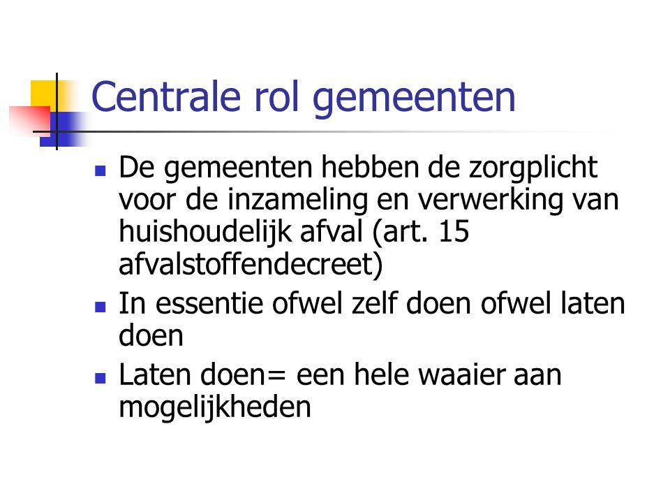 Centrale rol gemeenten