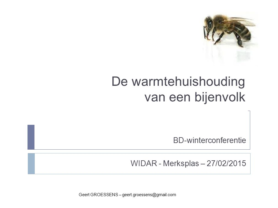 De warmtehuishouding van een bijenvolk