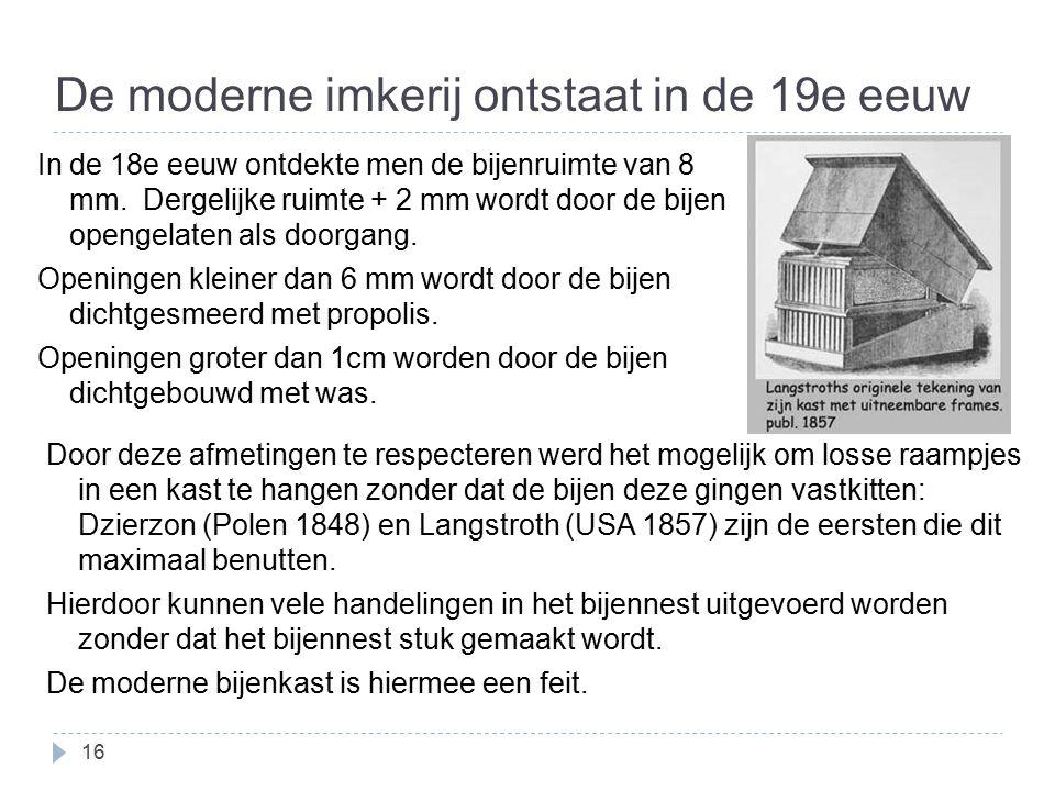 De moderne imkerij ontstaat in de 19e eeuw