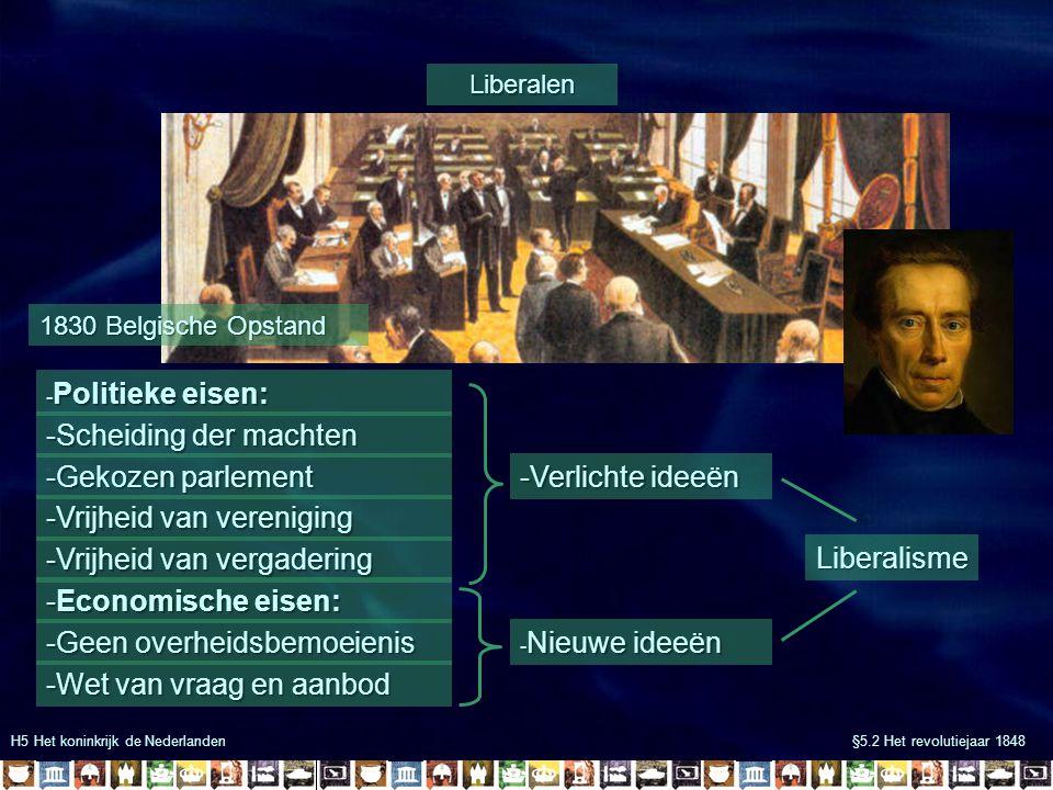 -Scheiding der machten -Gekozen parlement -Verlichte ideeën
