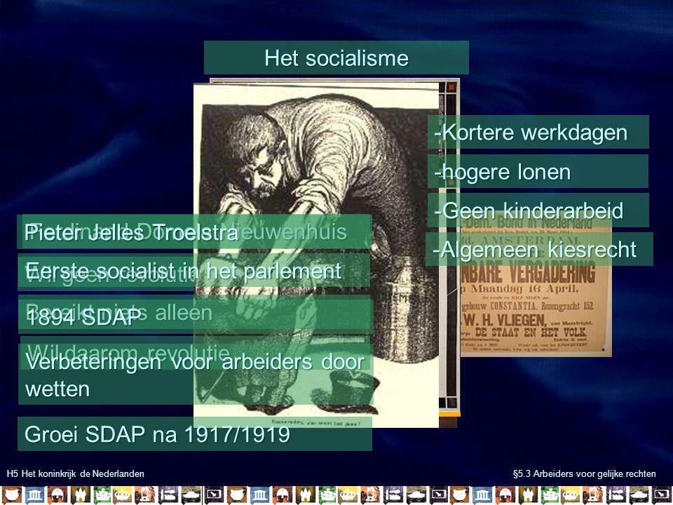 Pieter Jelles Troelstra Ferdinand Domela Nieuwenhuis
