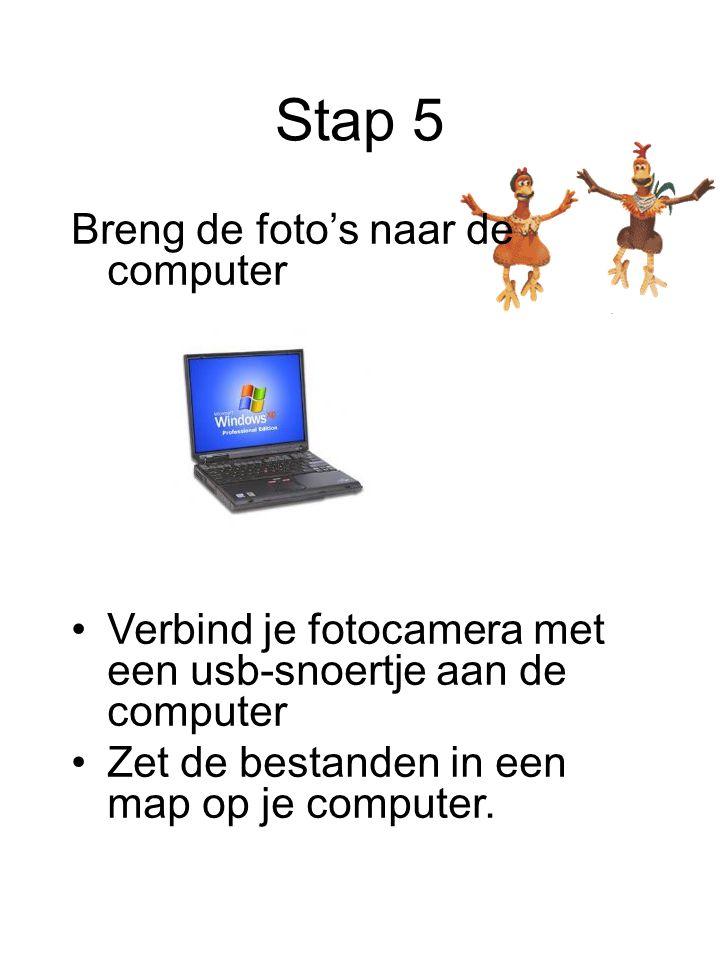 Stap 5 Breng de foto's naar de computer
