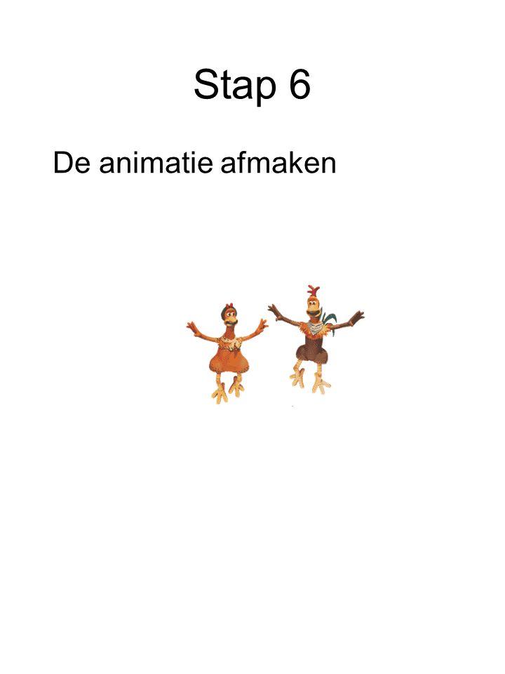 Stap 6 De animatie afmaken