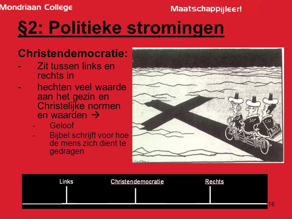 §2: Politieke stromingen