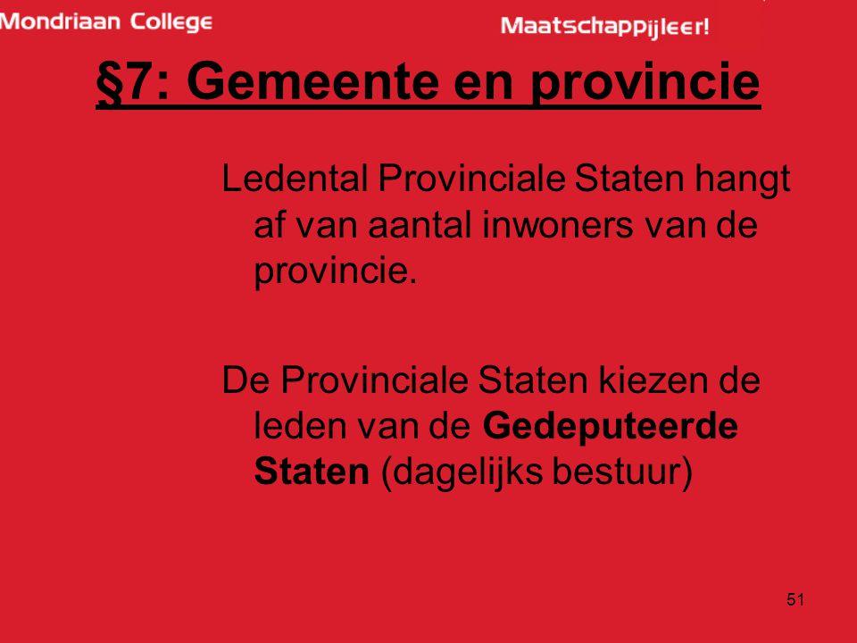 §7: Gemeente en provincie