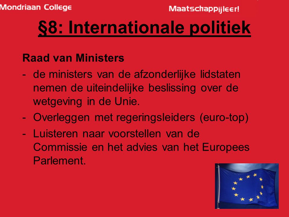 §8: Internationale politiek