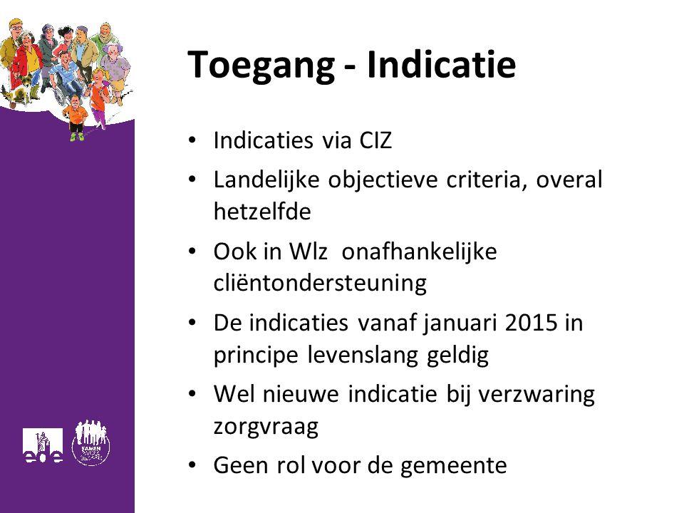 Toegang - Indicatie Indicaties via CIZ