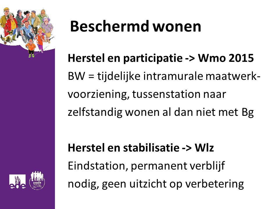 Beschermd wonen Herstel en participatie -> Wmo 2015