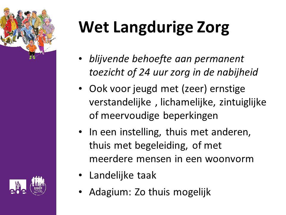 Wet Langdurige Zorg blijvende behoefte aan permanent toezicht of 24 uur zorg in de nabijheid.