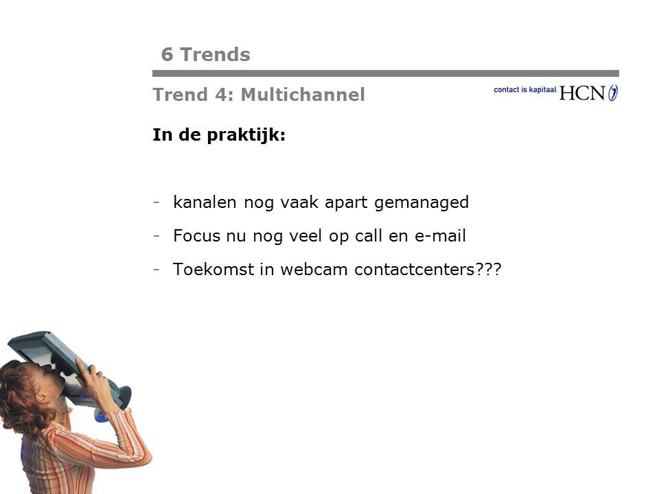 6 Trends Trend 4: Multichannel In de praktijk: