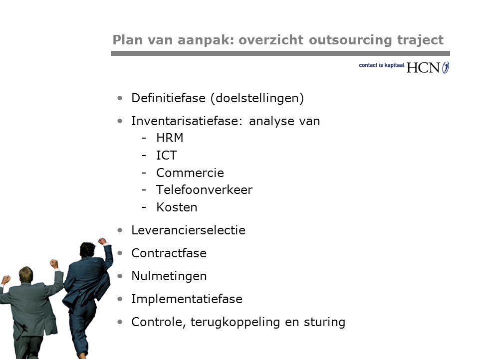 Plan van aanpak: overzicht outsourcing traject