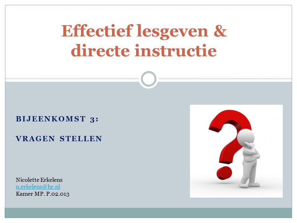 Effectief lesgeven & directe instructie
