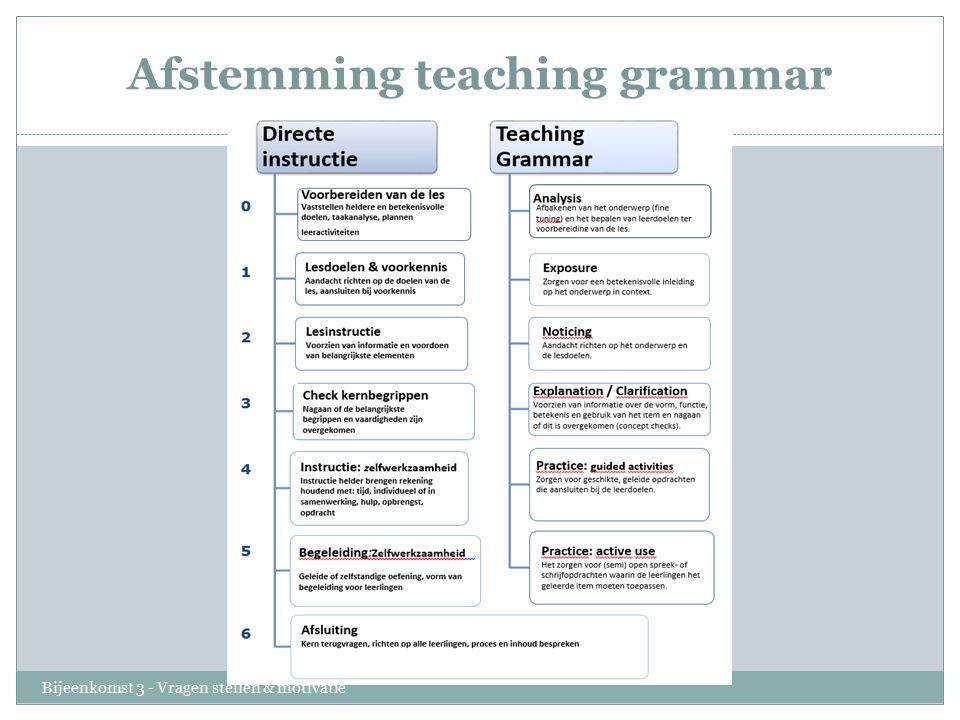 Afstemming teaching grammar