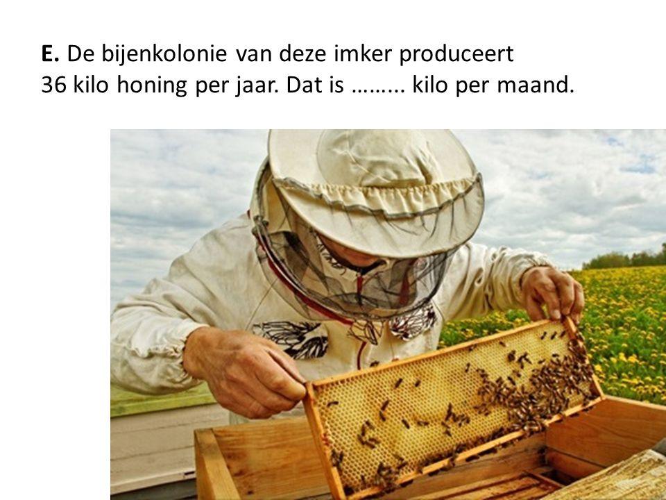 E. De bijenkolonie van deze imker produceert