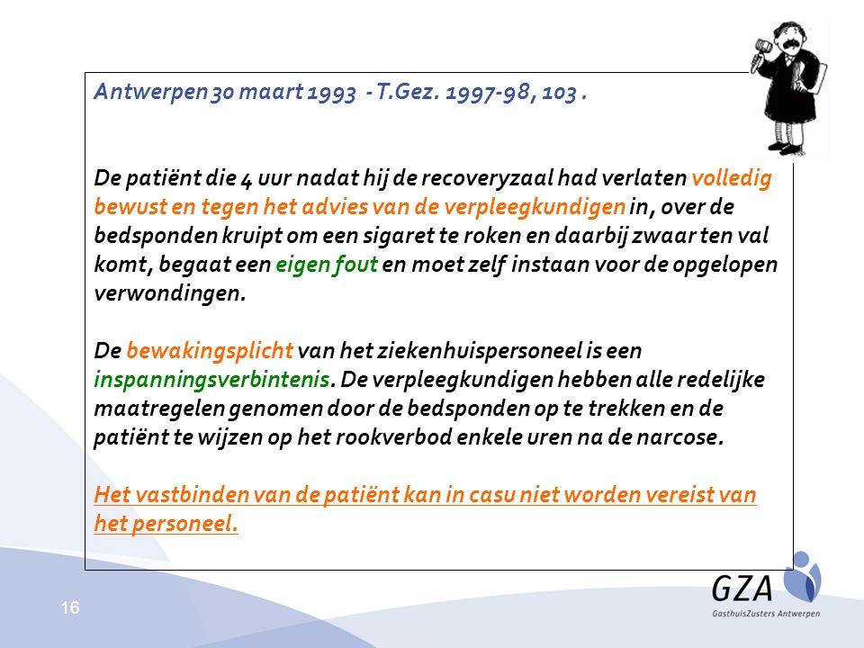 Antwerpen 30 maart 1993 - T.Gez. 1997-98, 103 .