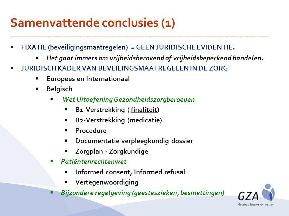 Samenvattende conclusies (1)