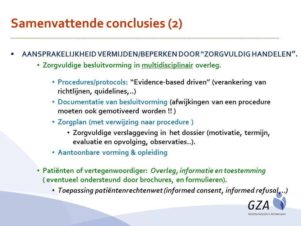 Samenvattende conclusies (2)