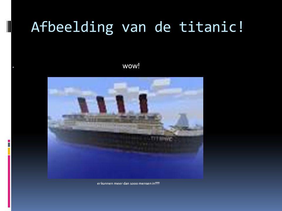 Afbeelding van de titanic!