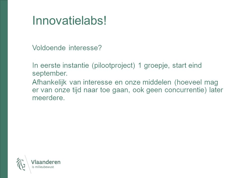 Innovatielabs!