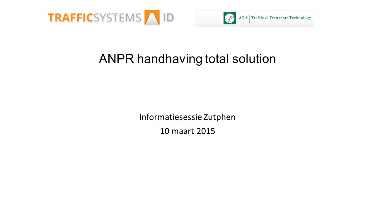 ANPR handhaving total solution