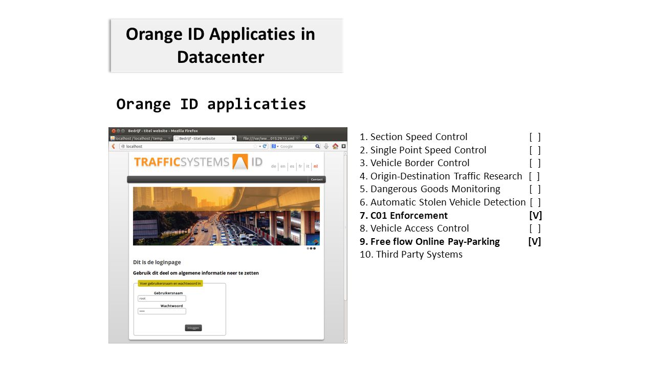 Orange ID Applicaties in Datacenter