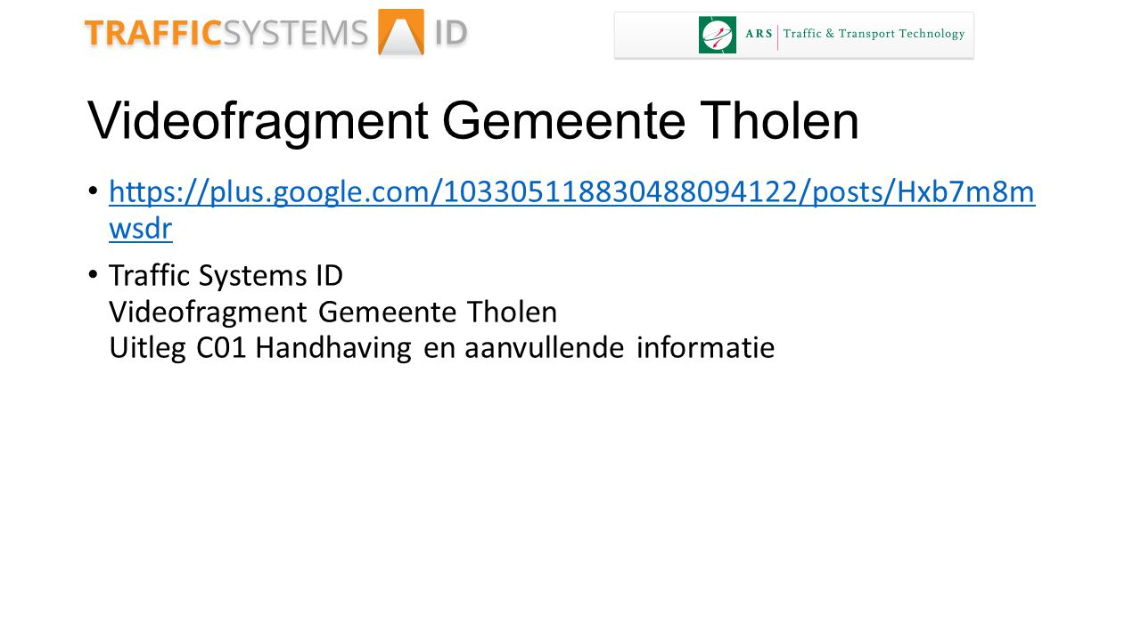 Videofragment Gemeente Tholen