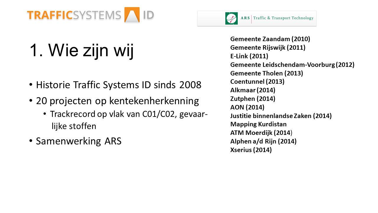 1. Wie zijn wij Historie Traffic Systems ID sinds 2008