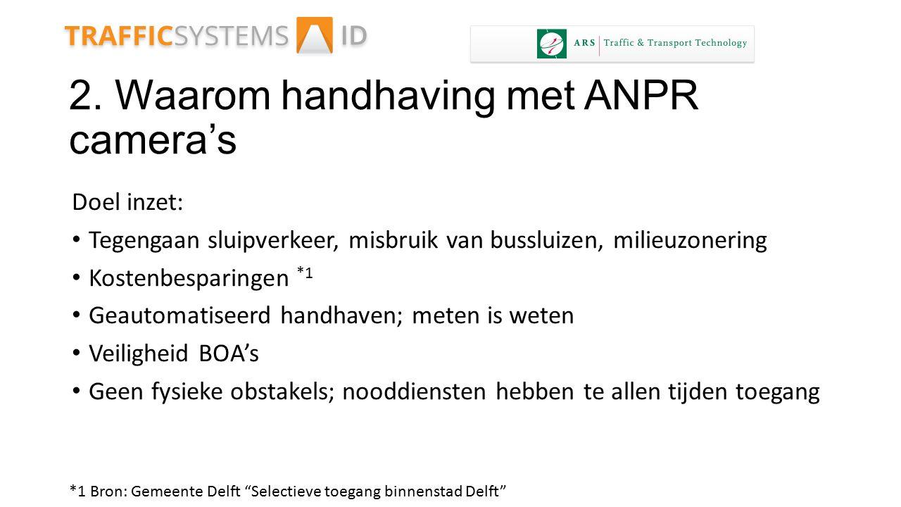 2. Waarom handhaving met ANPR camera's