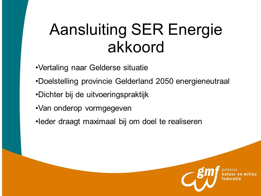 Aansluiting SER Energie akkoord
