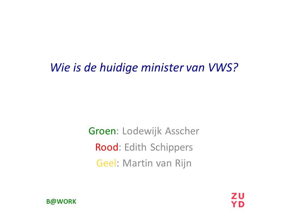 Wie is de huidige minister van VWS