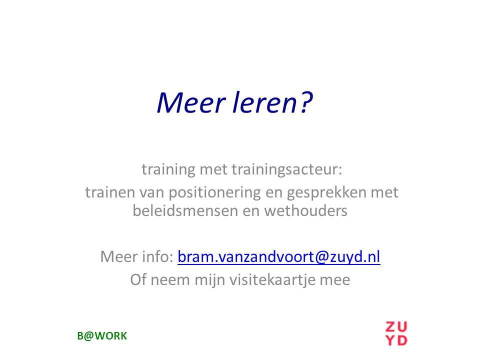 Meer leren training met trainingsacteur: