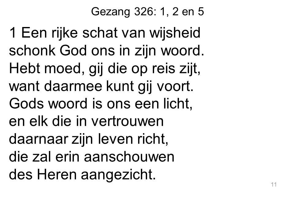 Gezang 326: 1, 2 en 5
