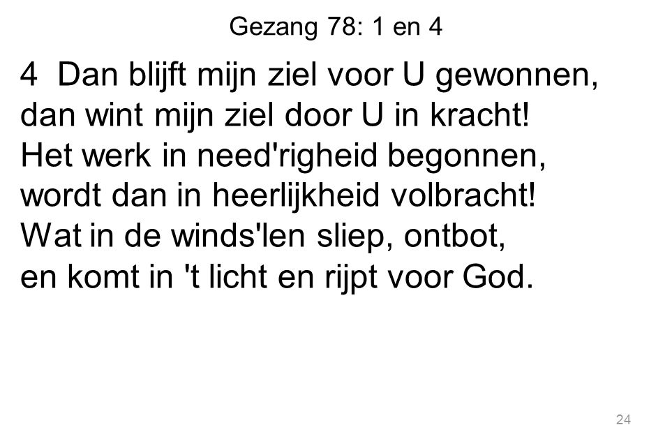 Gezang 78: 1 en 4