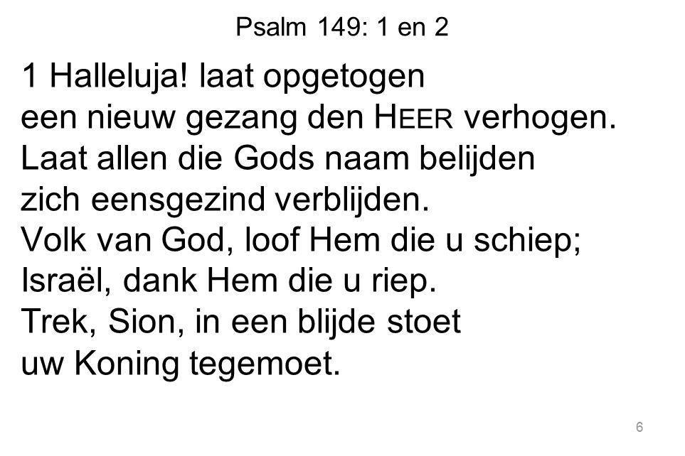Psalm 149: 1 en 2