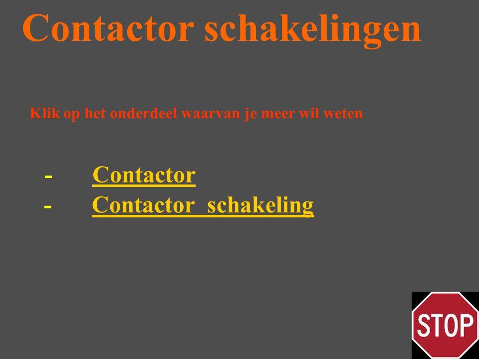 Contactor schakelingen