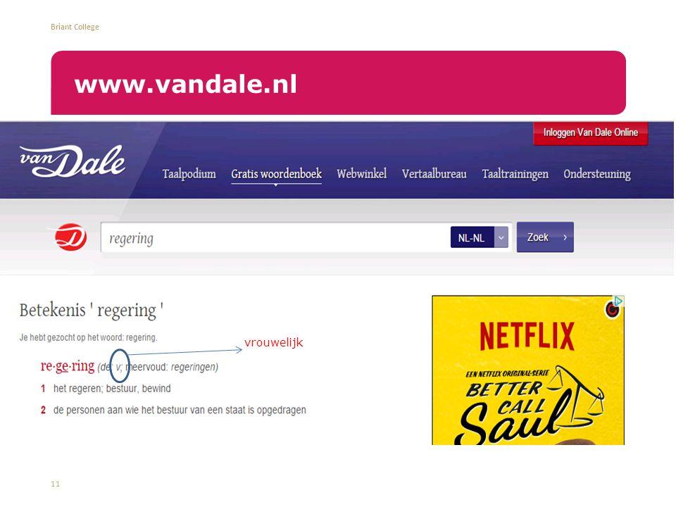 www.vandale.nl vrouwelijk