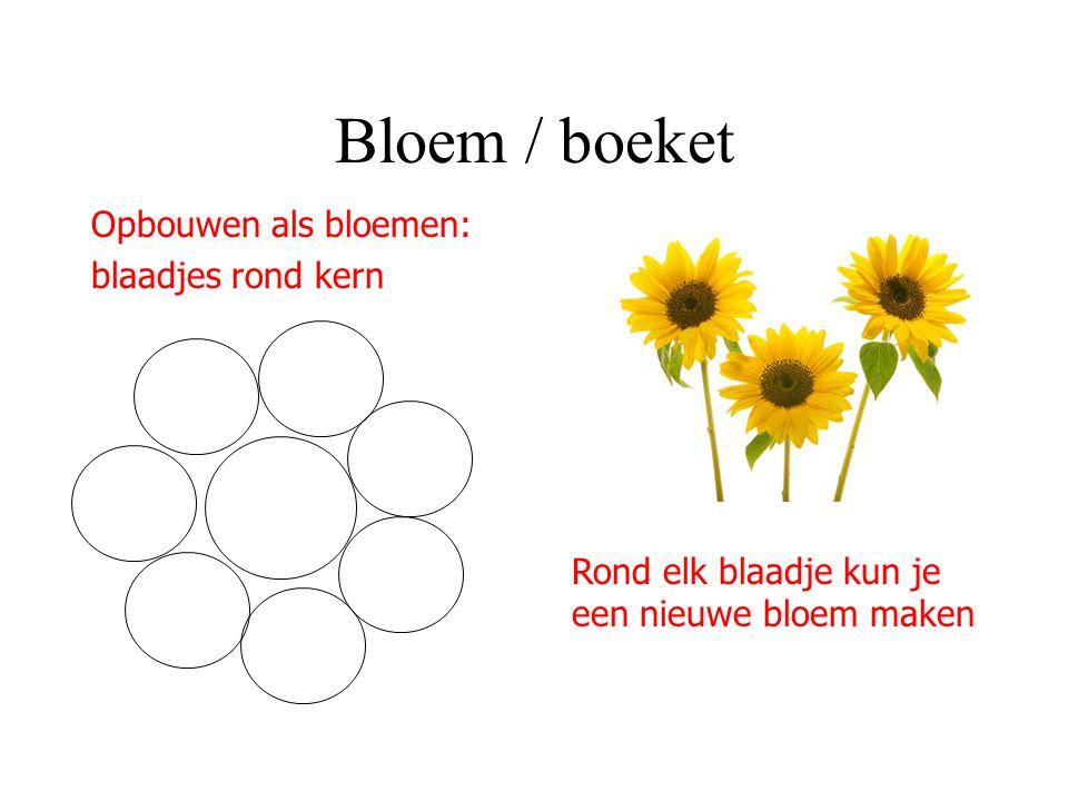 Bloem / boeket Opbouwen als bloemen: blaadjes rond kern