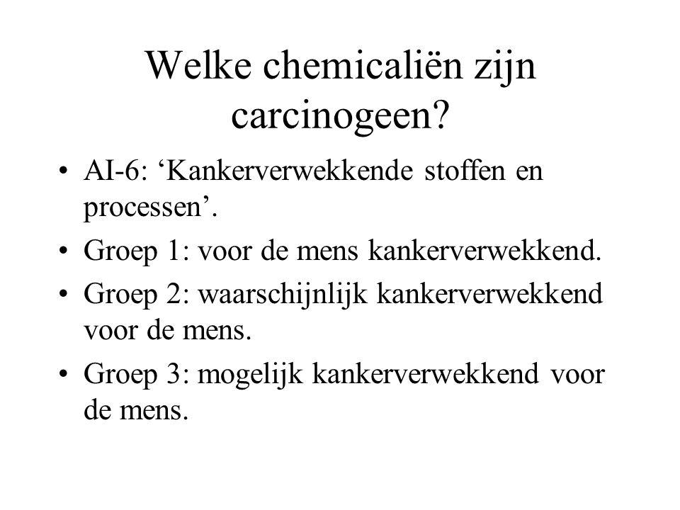 Welke chemicaliën zijn carcinogeen