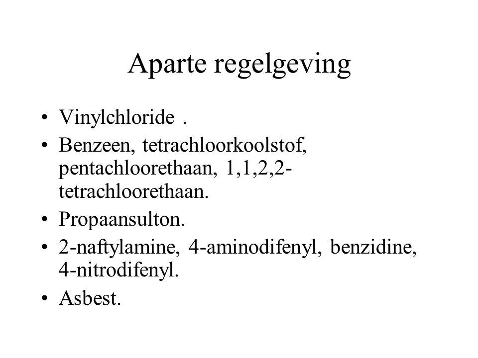 Aparte regelgeving Vinylchloride .