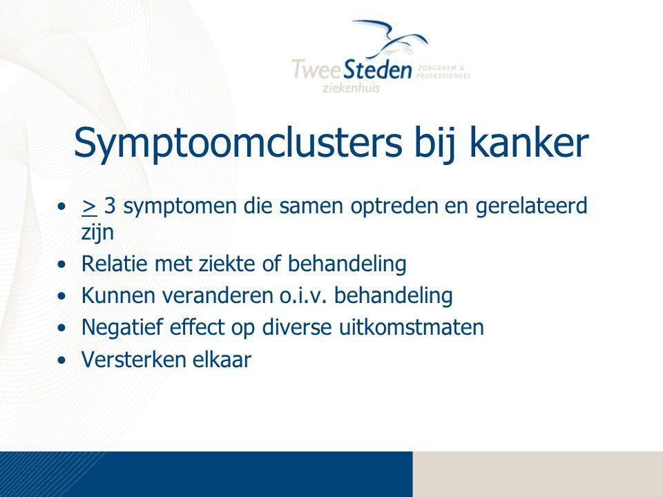 Symptoomclusters bij kanker